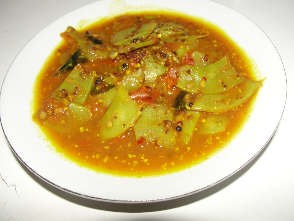 Simba-Rai(Broad-beans with mustard paste)